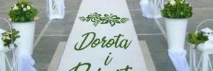naklejka ślubna na dywan