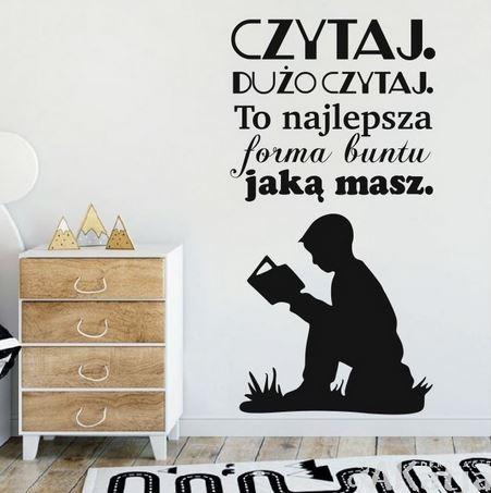 naklejka czytaj dużo czytaj