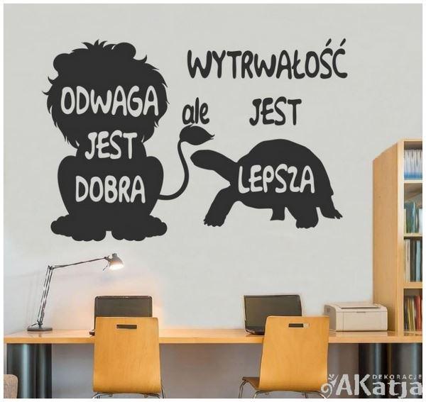 motywujący napis na ścianę