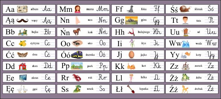 naklejki z alfabetem dla dzieci