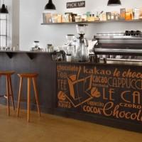 naklejka z kawą do kawiarni