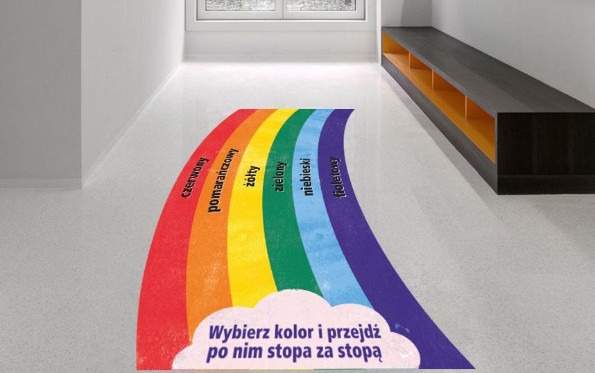tęcza z nazwami kolorów