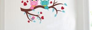 Sowy na gałęzi