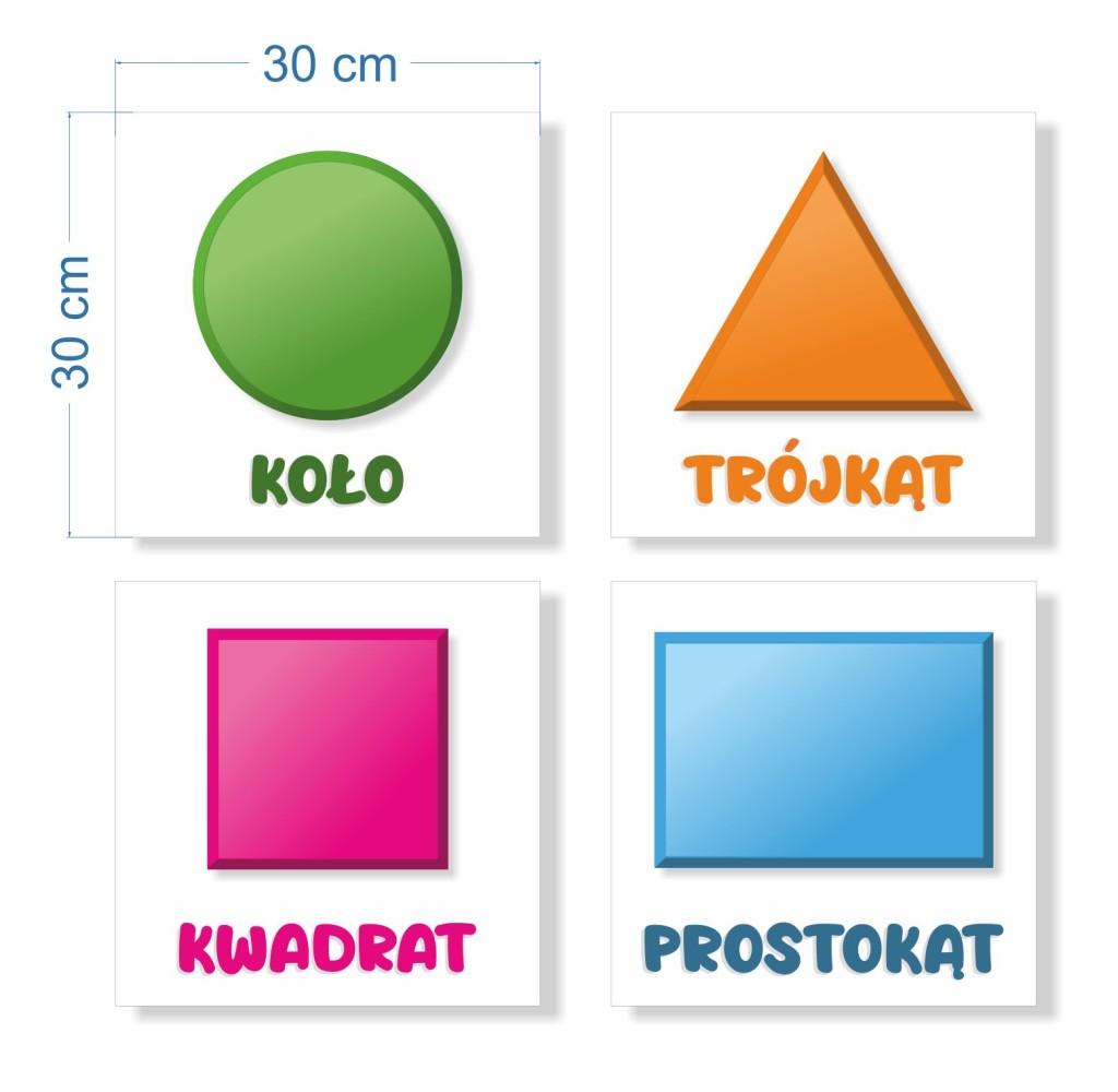 naklejki z podstawowymi figurami geometrycznymi