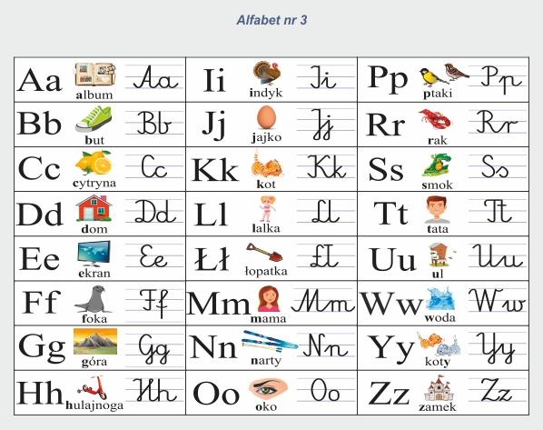 alfabet dla przedszkolaków