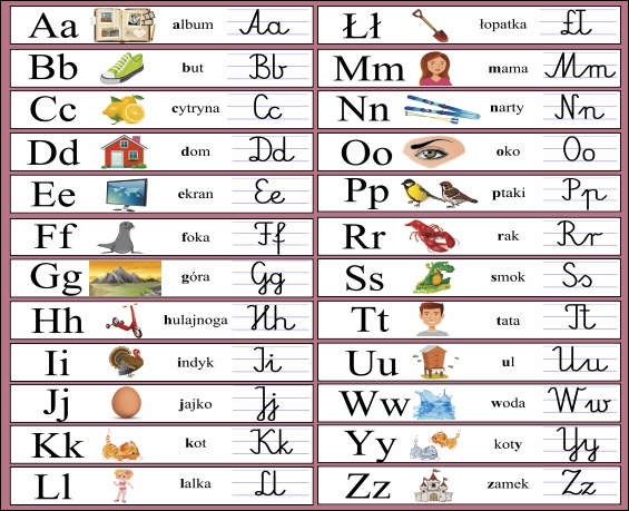 naklejki z alfabetem dla przedszkolaków