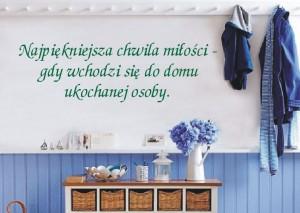naklejka na ścianę z napisem zielonym