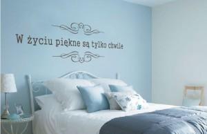 naklejka na ścianę z napisem