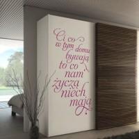napis na szafę