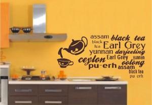 naklejka ścienna do kuchni czajnik herbata