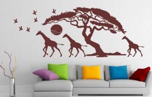 naklejka ścienna afrykanskie drzewo