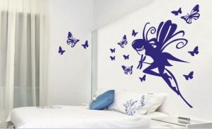 naklejka ścienna elf z motylami