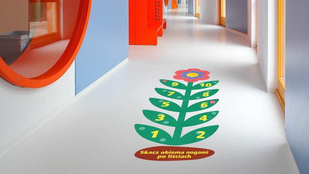 kwiat z cyframi gra korytarzowa