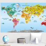 naklejka mapa świata dla dzieci