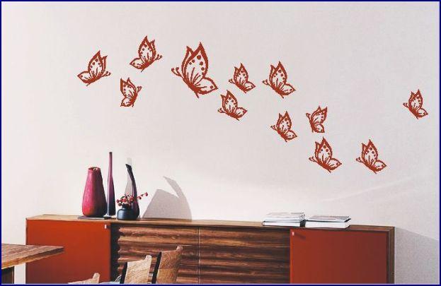 naklejki na ścianę motyle