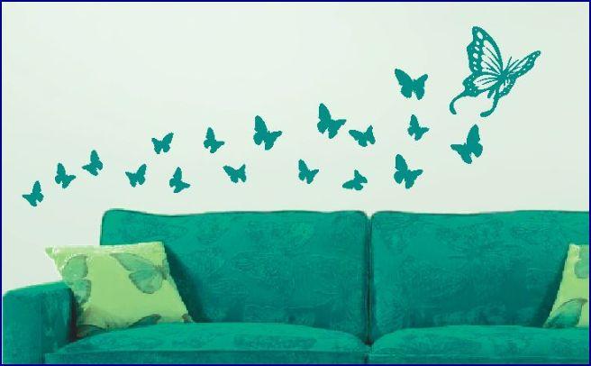 naklejka na ścianę z motylami