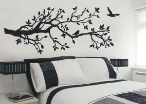 naklejka drzewo nad łóżko