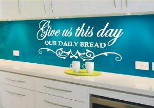 napis na ścianę do kuchni