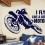 naklejka z motocyklem