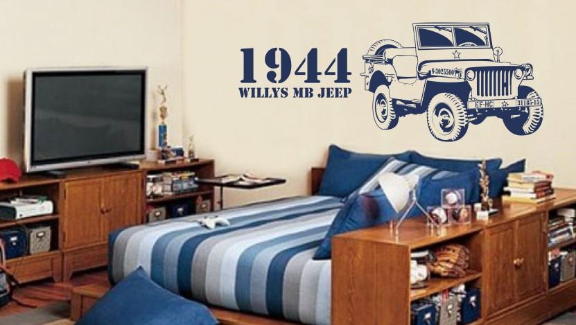 naklejka jeep willys