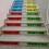naklejki na schody szkolne tabliczka mnożenia
