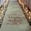 napis na dywan ślubny