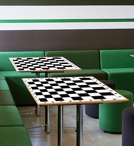 szachy naklejka na stolik