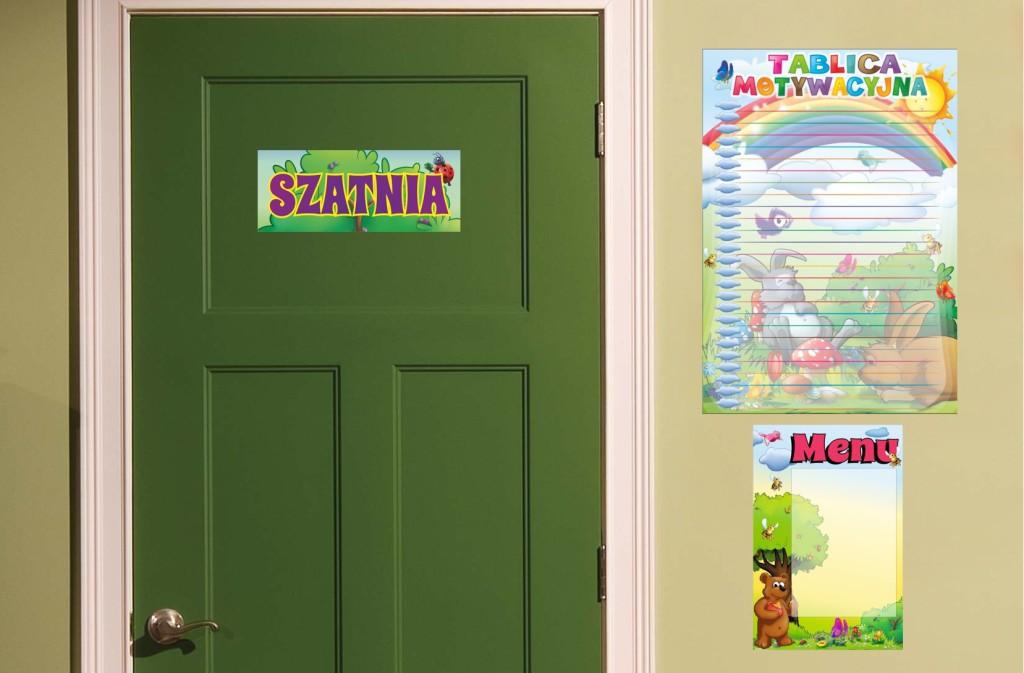 tabliczki przedszkolne