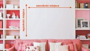 wymiary naklejki na ścianę