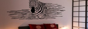 naklejka zebra do sypialni
